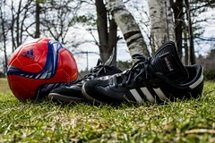 Adidas (Johnathon Wolf's Photography) Tags: grass samba soccer sun photography john wolf adidas light love beautiful trees sticks world flickr