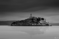 Alcatraz Prison (bobznext) Tags: sanfrancisco blackandwhite monochrome storm landscape seascape architecture longexposure bigstopper island california clouds cloudscape