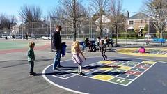 At The Playground (Joe Shlabotnik) Tags: galaxys5 playground sarahp lily violet 2017 april2017 sue everett cameraphone bliksem