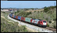 TECO en St. Sadurní (javier-lopez) Tags: ffcc railway train tren trenes adif logitren tranisitia mercancías teco contenedor contenedores 335 euro4000 euro 4000 alphatrains sggmrs aae apl tex cma cgm barcelonacantunis selgua stsadurní anoia cava cavas freixenet 06042017