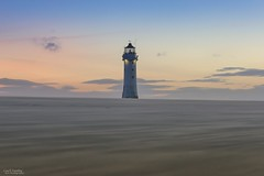 A Beacon in the sand (Carl Yeates) Tags: canon 550d lighthouse new brighton merseyside sunset colour sand beach wind