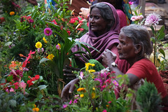 flower sellers...... (shingola) Tags: flowerseller varanasi