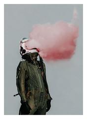 Escaping (David Schermann) Tags: conceptual conceptart concept space astronaut cosmonaut juri gagarin smoke feelings