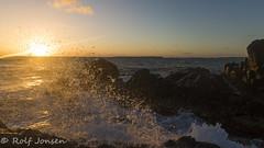 Sunrise with a splash (rjonsen) Tags: caribbean sun sunrise water wave waves splash droplets golden hour light morning stmartin