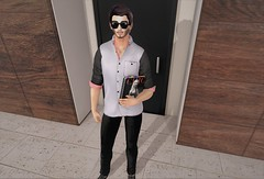 Spring Chic (EnviouSLAY) Tags: mulloy exile illi catwa bento brunette sunglasses black white red spring chic fashion book chinos button up buttonup davidheather david heather newreleases new releases tmd mom the mens department only monthly themensdepartment mensonlymonthly mensmonthly mensfashion mensfair mensevent monthlymens event fair pale male single gay blogger secondlife second life fashionphotography photography
