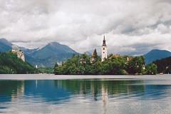 Lake Bled (Treflyn) Tags: lake bled slovenia july 2002 olympus om30 kodak gold 200 film 50mm standard lens