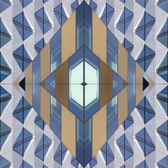 UK - Manchester - Salford - MediaCity UK facades sq_flipped (Darrell Godliman) Tags: ukmanchestersalfordmediacityukfacadessqflipped flipped flipping mirror mirrored mediacityuk salford manchester sq bsquare squares squareformat geometric