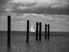 Cuxhaven (bh-fotografie) Tags: cuxhaven germany sailing ship black white nordsee 12100 olympus em1 mft m43 microfourthirds
