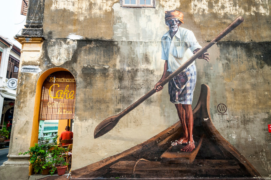 Georgetown in Malaysia is known for its stunning street art