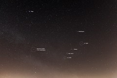 Meteor & Open Clusters 01:46 BST 21/04/17 (Spicey_Spiney) Tags: meteor ngc6633 ic4665 ic4756 thecoathanger brocchiscluster astrometrydotnet:id=nova2042689 astrometrydotnet:status=solved