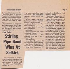 Stirling Pipe Band Pine Falls Newspaper Articles-6 (Hugh Peden) Tags: stirling pipe band pine falls manitoba major william bill macleod