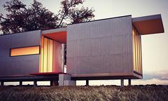 Taliesen Prefab House (nino_piamonte) Tags: art architecture 3d artwork exterior render indigo