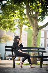 Caterina (Alex Treadway) Tags: street uk autumn trees houses portrait england people london fall cars beauty smiling bench outside outdoors pretty solitude day sitting unitedkingdom britain pavement sandals seat fulllength longhair tranquility happiness sunny sidewalk straighthair beautifulwoman backlit brunette cheerful parkbench browneyes relaxation primrosehill turning beautifulpeople oneperson freshness lookingaway frontview darkhair brownhair londonengland casualclothing capitalcities blurredbackground urbanarea caucasianappearance differentialfocus midadultwomen humanmouth modelreleasedphotography 3034years humanbodypart