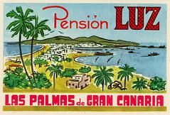 Canary Islands Travel Ephemera (Alex Bramwell) Tags: old travel vintage hotel label canarias tenerife canaryislands luggagelabel grancnaria