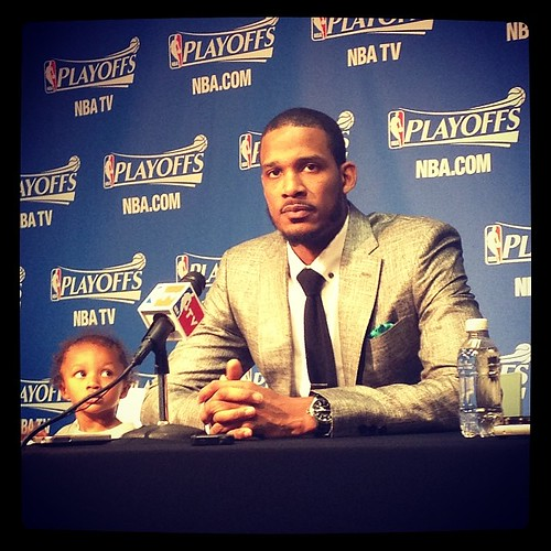 Trevor Ariza brought young Tristan Ariza to his post-game presser. #Wizards