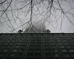 Foggy (Singing With Light) Tags: city nyc winter snow fog 1 may samsung highrise chrysler nx2000 singingwithlight
