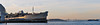 a bridge divided (pbo31) Tags: sanfrancisco california sunset panorama orange color bay spring nikon ship large panoramic hunterspoint baybridge april sas 80 stitched divided 2014 d90 heronsheadpark easternspan bayviewdistrict