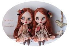 Whispering secrets (AlmondDoll) Tags: ginger doll ooak redhead blythe freckles custom takara collaboration fbl rbl newfaceup karolinfelix prarieposie almonddoll zinochka