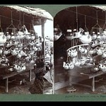 LITTLE KIDS AT A BALLOON-FISH LANTERN SHOP in OLD JAPAN thumbnail