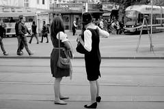 Graz (austrianpsycho) Tags: girls people blackandwhite bw hat women leute streetphotography tram menschen hut sw graz tramway steiermark styria frauen kleidung bim stehen tracht grazer trachten schwarzweis jakominiplatz strasenbahn aufsteirern grazerverkehrsbetriebe verbundlinie grazlinien holdinggrazlinien grazerinnen