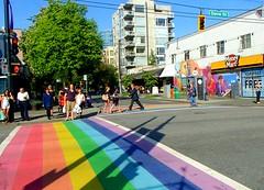 Vancouvers Rainbow Crosswalks (supe2009) Tags: street vancouver davie westend permanent crosswalks bute