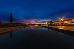 Blue Hour (Rosario Vicino) Tags: blue stella sunset italy fish eye river stars gold lights italia tramonto blu sony fiume hour rosario sicily luci ora alpha catania sicilia oro centrocommerciale vicino effetto etnapolis
