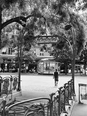 Metropolitain (Qiou87) Tags: paris france blackwhite metro entrance olympus panasonic metropolitain m43