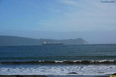 Niebla (naomilandsk) Tags: chile sea beach landscape barco playa paisaje niebla valdivia paisa
