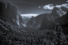 Evening Glow (DirtyBootPrints) Tags: blue wild sky blackandwhite white mountain black mountains color nature night dark landscape evening poetry remember quiet peace natural walk watch free visit hike pop explore vision yosemite land wish pm watcher gloaming