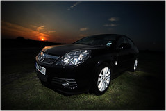 V = Vauxhall Vectra 1 (happyacko) Tags: camera sunset colour car composite automobile flash v blended deal vehicle layers vauxhall 2014 vectra ddcc strobist project52 yongnuo