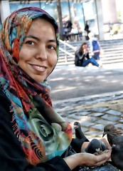 Bird Lady (denny57uk) Tags: smile birds pigeons citylife streetphotography norwich peoplewatching birdlady