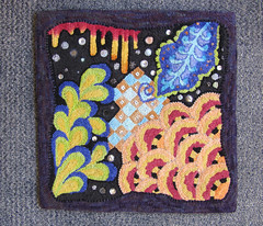 Zen Doodle (#P889) (Western McGown) Tags: rughooking zentangle