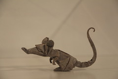 Rat - Eric Joisel (EZ Origami) Tags: new york paper origami union exhibit surface structure international cooper forms folded origamiusa