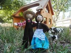 Miniature farmer doll Wildflower Innocence 4 (wildflowertoys) Tags: woodentoys dollhousedolls toybarn bendydoll naturaltoys waldorftoys elvesandangels dollhousefamily toystable wildflowerinnocence
