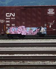 Got Ink? (YardJock) Tags: railroad graffiti spraypaint boxcar piece freighttrain rollingstock benching paintedsteel boxcarart benchreport
