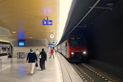 Zurich Main Station -  the new Löwenstrasse station (hrs51) Tags: city station train switzerland cross zurich zug bahnhof s sbb hauptbahnhof link re zürich bahn 450 treno hb oerlikon löwenstrasse örlikon durchmesserlinie