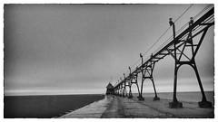 Bygone (MacDonald_Photo) Tags: longexposure blackandwhite lighthouse pier michigan olympus lakemichigan zuiko omd oly grandhaven lightroom westmichigan em10 zd eatonrapids grandhavenlighthouse sl33stak jamieamacdonald bwndfilter 43 getolympus 43photography omdem10