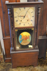 "LARGE AMERICAN TALL SHELF CLOCK, C. 1830. • <a style=""font-size:0.8em;"" href=""http://www.flickr.com/photos/51721355@N02/14458239571/"" target=""_blank"">View on Flickr</a>"