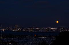 Moonrise over San Diego (MelissaBessMonroe) Tags: moon kevin sandiego moonrise pointloma moonporn