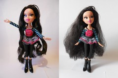 After and before Jade Artist (Esquerade) Tags: hair kat doll long artist dolls curly jade fixing kool bratz frizz mgae