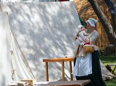 Mom and Baby (Kevin MG) Tags: ca family costumes usa baby mom losangeles military colonial mother base sanpedro fortmacarthur warreinactment