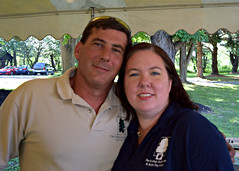 Property manager Dave Gallagher with his wife, Administrative Assistant Becky Clewell Gallagher