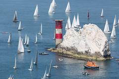 Needles (Explored #137 28/06/14 ) (John Ambler) Tags: race john island yacht explore lifeboat jp round morgan 137 ambler 2014 explored johnambler