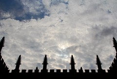 The Bodleian Library, Oxford, UK (LotteLeeMller) Tags: uk sky university unitedkingdom library silhouettes lookingup oxford studies bodleianlibrary