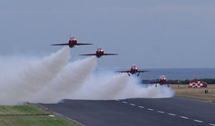 Red Arrows take off from Leuchars (andyflyer) Tags: redarrows leuchars royalairforce rafleuchars