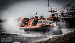 Morecambe Lifeboat - The Hurley Flyer (DugieUK) Tags: flyer day lifeboat morecambe hurley fleetwood hovercraft rnli 2014