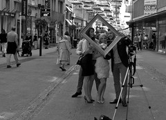 A Wedding Photo (The_Kevster) Tags: street camera leica wedding light portrait people blackandwhite bw man monochrome photo women shadows rangefinder tourists shops luxembourg clausen summicron50mm leicam9