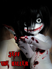 Jeff the Killer (Lunis's Dollhouse) Tags: male jeff mouth carved hoodie cut knife killer pullip bloody custom slit obitsu 27cm creepypasta