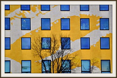 Concours Couleurs ! (au35) Tags: berlin yellow jaune concours couleur faade immeuble phototech