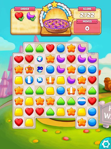 Cookie Jam Heads-Up Display: screenshots, UI